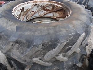 1986 Ford Tw 35 Series 2 Farm Tractor Rear Tires wheels 18 4 X 38 radials