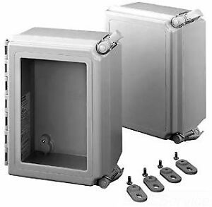 Hoffman A181610chqrfg Nema 4x Enclosure Fiberglass Solid Cover With Quick