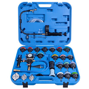 28 Pcs Radiator Pressure Tester Vacuum type Cooling System Refill Kit W case New