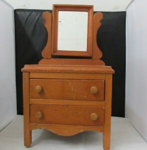 Furniture Salesman Sample Small Dresser 18 1 4 Tall By 7 1 2 Mirror Drawer