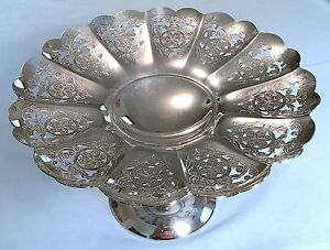 Silver Plated Cake Pastry Stand Midcentury Australia K G Luke Paramount