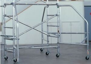55 Off Werner Aluminum Scaffolding 80 42 Extensions 4 Outriggers No Planks