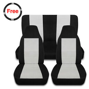 Custom Fit Front Rear Seat Covers For Jeep 1997 2002 Wrangler Tj 4wd