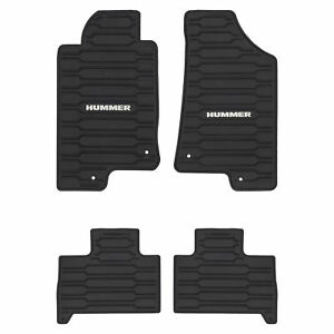Oem New Front Rear All Weather Rubber Floor Mats W Logo 06 10 Hummer 12498903