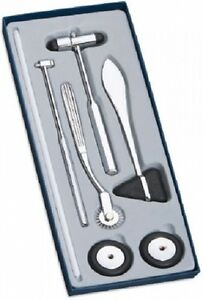 New Adc 3600bk Medical 5 Piece Neurological Hammer Set