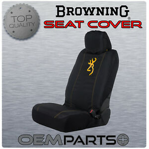 New Browning Arms Seat Cover Black Gold Buckmark Universal Fit Low Back Bucket