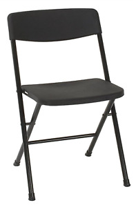 Cosco Resin 4 pack Folding Chair With Molded Seat And Back Black