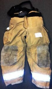 46x30 Pants Suspenders Firefighter Turnout Bunker Fire Gear Globe Gxtreme P709