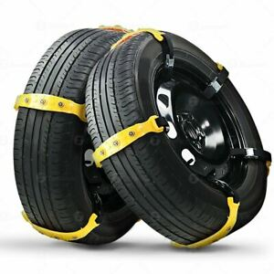 Zone Tech Thick Anti Skid Tire Snow Mud Chains Car Traction Emergency Driving
