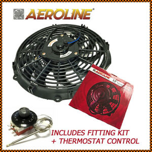 12 Aeroline 120w 12v Electric Radiator Cooling Fan Thermostat Control Switch