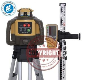 New Topcon Rl h5a Self leveling Rotary Slope Laser Level Pkg Grade 16 Ft Inch