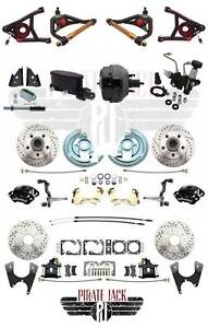 1964 1972 Gm A Body Chevelle Wilwood Disc Brake Kit 9 Black Dual Booster A Arms