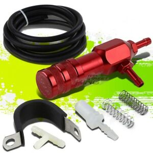 1 30 Psi Adjustable Spring Manual Turbo Bypass Closed Loop Boost Controller Red