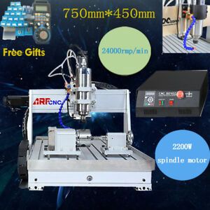 Usb Four 4 axis Cnc 6040 2200w Router Engraver Engraving Milling Machine mach3