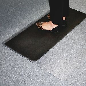 Es Robbins Sit Or Stand Mat Carpet Hard Floors 45 X 53 Clear black Esr184603