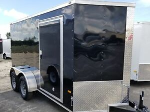 6x12 6 X 12 Enclosed Trailer Cargo V nose Ramp Motorcycle 14 Utility 10 In Stock