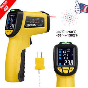 Temperature Gun Non contact Digital Laser Ir Thermometer W K type 58 f 1382 f