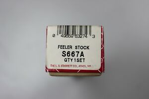 Starrett S667a Thickness Gage Stock 32 Straight Leaves Feeler Set Brand New