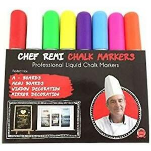 8x Glass Markers Liquid Chalk Markers Wet Erase Markers Chalk Pens