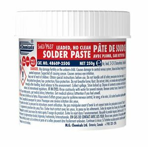 Mg Chemicals 63 37 No Clean Leaded Solder Paste 250 G Tub