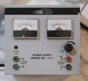 Central Scientific Company Power Supply Model 33032