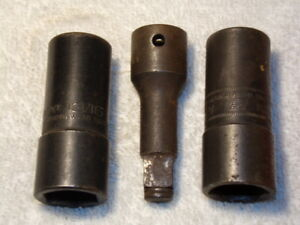 Snap On Tools 1 2 Drive Socket Lot Of 3 Imx32b A98a A98m Made In Usa