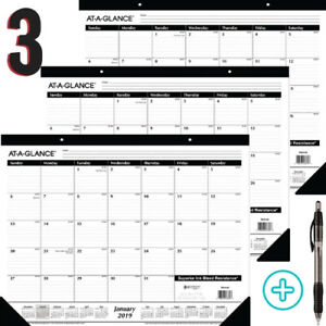 Large Desk Pad Monthly Calendar Teacher Planner Academic Office Desktop Protect
