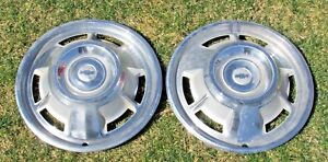 1967 Chevy Camaro 13 1 2 Wheel Covers Hubcaps Set Of 2