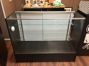 Retail Glass Counter jewelry Display In Black Finish ohio Pick Up Only