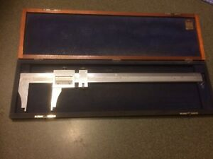 Browne Sharpe No 571 Vernier Caliper With Wood Case