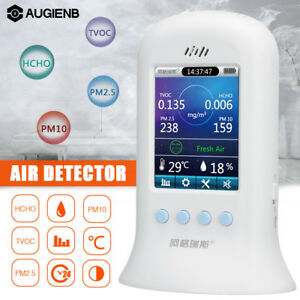 Augienb Air Quality Detector Tester Pm2 5 Pm10 Formaldehyde Tvoc Monitor Hcho