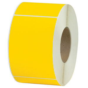 Box Partners Thermal Transfer Labels 4 X 6 Yellow 4 case Thl130yw