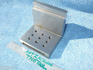 Angle Plate Toolmaker Machinist Hardened Ground 10 32 Inspection Mill Grinder