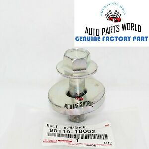 Genuine Toyota Lexus Supra Harmonic Balancer Crankshaft Pulley Bolt 90119 18002