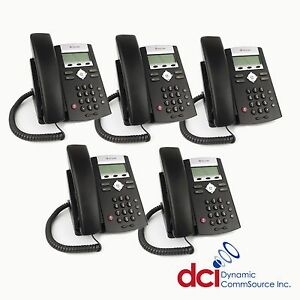 Refurbished 5 Pack Of Polycom Soundpoint Ip 335 Telephones Poe free Shipping