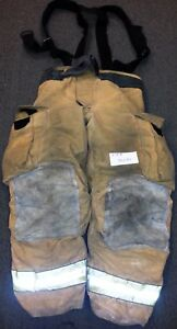34x30 Pants Suspenders Firefighter Turnout Bunker Fire Gear Globe Gxtreme P708