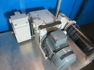 Leybold Trivac D16b Rotary Vane Dual Stage High Vacuum Pump P n D16bcspfpe