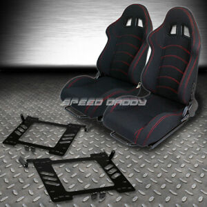 2 Type F1 Fully Reclinable Racing Seats Bracket For 99 05 Vw Golf Jetta Beetle