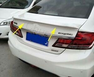 Factory Style Spoiler Wing Abs For 2012 2015 Honda Civic 4dr Sedan 1pcs A
