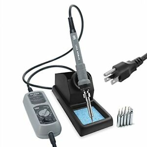 Sywon 60w Esd Soldering Iron Kit With On off Switch Temperature Adjustable Large