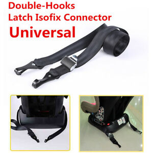 Double Hooks Isofix Latch Connector Seat Belts For Car Baby Child Safety Seats