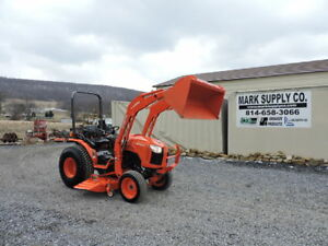 2016 Kubota B3350 Compact Tractor Loader Belly Mower Diesel 120 Hours Warranty