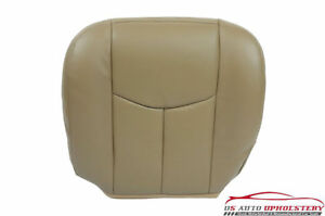 03 06 Chevy Tahoe Suburban Heated Power Leather Driver Bottom Seat Cover Tan