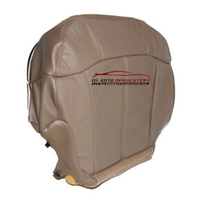 00 01 02 Chevy Suburban Tahoe Lt Z71 driver Side Bottom Leather Seat Cover Tan
