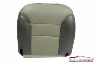 2000 Chevy Tahoe Z71 Heated Seat Driver Bottom Leather Seat Cover 2 Tone Gray