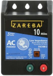 Zareba Electric Fence Fencing 10 Mile Low Impedance Energizer Horse Cow Goats