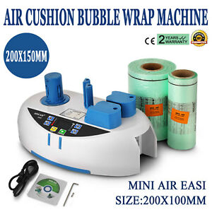 Air Easi Cushion Bubble Wrap Machine 2800pc Package Bag Tabletop Bulky Bubble