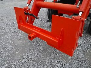 Kubota Skid Steer Attachment Trailer Hitch Receiver Mount Plate Free Ship