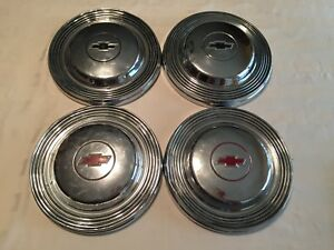 1965 Chevy Belair Biscayne Dog Dish Hubcaps 10 1 2