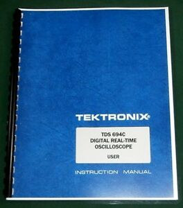 Tektronix Tds 694c User Manual Comb Bound Protective Plastic Covers